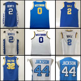 Wholesale Authentic Baseball - 2017 Men Russell Westbrook 0 Lonzo Ball Joel Berry Bill Justin Jackson Walton Authentic jersey 100% stitched Embroidery Logos Free Shipping