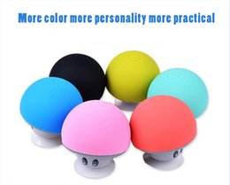 Wholesale Tablet Pc Stand Speaker - Portable Wireless USB Bluetooth 3.0 mini Mushroom Speakers for Cell Phone Tablet PC Stand 200pcs up