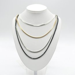 Wholesale Statement Necklaces Multi Layers - 2015 New Fashion Multi-Layer Gold Silver Black Chains Snake Necklace Collar Chain Women Jewelry Statement Necklace Y60*SS1056#M5