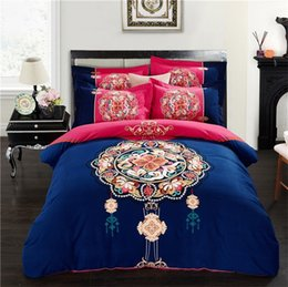 Wholesale Green White Flowered Quilt - Autumn and winter sanding 4 pieces bedding set 100% cotton bed sheets quilt comforter duvet cover flower twin queen bedding sets