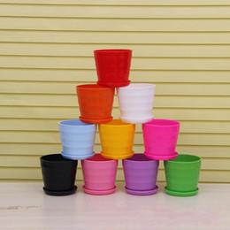 Wholesale Wholesale Indoor Succulents - Thread Design Flower Pot Plastic Indoor Succulent Plants Garden Pots Resistance To Fall Planters Factory Direct Sale 0 46xy B