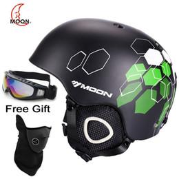 Wholesale Moon Helmets - MOON Ski Helmet CE Certification Safety Skiing Helmet Integrally-molded Skating Skateboard Snowboard Helmet Size 52-61CM