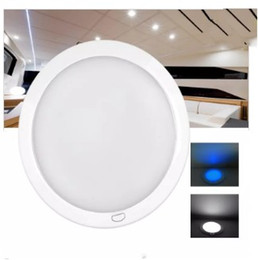 "Wholesale 12v Surface Mount Led - 127mm 5"" Dimmable LED Cabin Dome Light Blue Mood Ambiance Light Ultra Slim  Motorhome RV Lamp Roof LED Lamp Caravan Dome light LLFA"