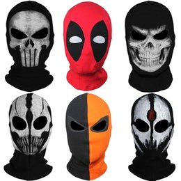 Wholesale Man Costumes - Wholesale-9Style New Skull Ghost X-men Deadpool Punisher Deathstroke Masks Grim Reaper Balaclava Tactical Halloween Costume Full Face Mask