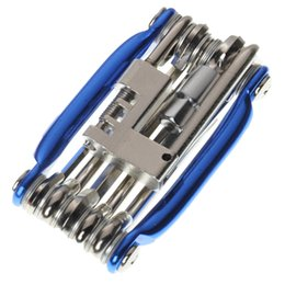 Wholesale Cheap Spokes - Cheap!!! 11 in 1 Multifunction Moutain Bicycle Bike Tyre Repair Tool Set Kit Including Screwdriver Hex Spoke Screwdriver Wrench By DHL