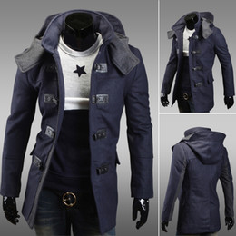 Wholesale Hooded Long Trench Coat Men - 2015 Hot South Korea Qiu Dong Outfit Of Men's new woolen cloth dust coat han edition cultivate one's morality trench coats@ 2941