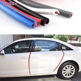 Wholesale Car Door Edge - 5M Car Universal Car-Styling Edge Guard Sealing Decoration Mouldings Door Scratch Strip Protector Accessories Car Styling