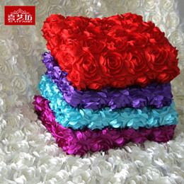 Wholesale Sash Table - Colorful Wedding Table Decorations 93cm*140cm Sign In Solid Background Of Carpet Yarn Curtain Rose Wedding Suppliers Carpet