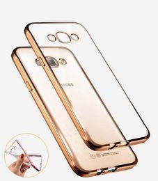 Couverture samsung grand neo en Ligne-Style de luxe Placage Doré TPU Doux Silicone Couverture de Cas de Téléphone Pour Samsung Galaxy A3 A5 A7 2016 J5 J7 Grand Neo Prime
