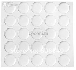 Wholesale Epoxy Dome Bottle Cap Stickers - Wholesale-50pcs 1 Inch 3D Dome Circle Clear Epoxy Stickers For Bottle Cap Pendants jewelry DIY 4Q281
