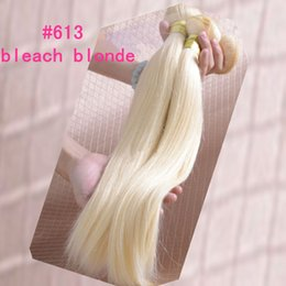 Wholesale 22 Blonde Lightest - Lightest Blonde Brazilian #613 Human Hair Weaves Straight Hair Extensions 3pcs  4pcs Malaysian Indian Peruvian Human hair
