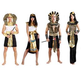 Traje faraó, rei on-line-Traje Das Mulheres do dia das bruxas Egito Príncipe Princesa Rainha do Rei Faraó Cosplay Masquerade Ball Costume Fancy Dress