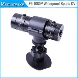 Wholesale Mini Dv Camera 5mp - Aluminum Mini F9 5MP HD 1080P H.264 Waterproof Sports DV Camera Camcorder Car DVR Outdoor Bike Helmet AT-F9 76g D1226 hot selling 002922
