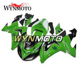 Wholesale Plastic Kit Motorcycle - Full Fairings for Kawasaki ZX-10R ZX10R 2006 2007 06 07 Injection Plastics Motorcycle Fairing Kit ABS Covers White Green Black Carenes New