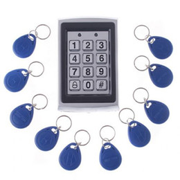 Wholesale Keypad Reader - Proximity RFID Reader Keypad Door Lock Access Control IP43 Metal Case +10 Keys Free Shipping