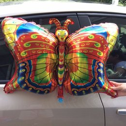 Wholesale Decorated Butterflies - New insect foil balloon butterfly happy birthday party balloons decorated air balloons globos children inflatable Classic Toys