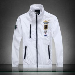 Wholesale Wind Windbreaker Jacket - Luxury brand windbreaker for men autumn casual tide zipper jackets for men stand collar wind jackets men free shipping