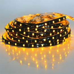 Wholesale Lowest Priced Led Christmas Lights - Wholesale- DC 12V SMD 3528 Black PCB RGB LED Strip light 300LEDs   5M LED String Ribbon Brighter than 2835 3014 Lower Price 5050 5630