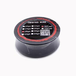 Bobina de alta resistencia online-Bobina de alta resistencia de la resistencia del alambre trenzado 30 pies 24g 26g 28g 30g Alambres de calefacción para DIY Reconstruible RDA RBA E Cig vaporizador Atomizador