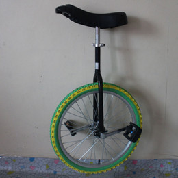 Wholesale Unicycle 16 - colorful one wheel monocycle bike Knight Steel Frame onewheel Unicycle wheelbarrow bicycle for young people