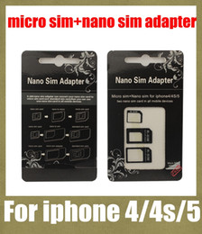 Wholesale Iphone 4s Unlocking Sim - nano sim adpater r-sim adapter sim card slot holder for iphone 4s 4 iphone 5 micro sim adapter to standard sim card VS noosy adapter OTH023