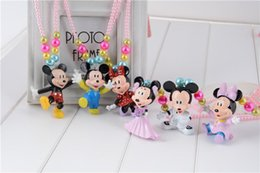 Wholesale Pearl Chunky Bead - 2015 Fashion Children Child Girls Mickey Design Pendant Chunky Beads Pearl Necklace Jewelry Accessories Decoration