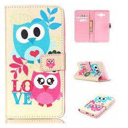 Wholesale Butterflies Card - For Samsung On5 On7 J1 Ace J2 LG Nexus 5 5X Angler H79 Cartoon Flower Flip Wallet Leather Pouch Case Teddy Butterfly Anchor Owl TPU Cover