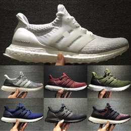 Wholesale Black High Low - Best Christmas Gifts Ultraboost 3.0 Running Shoes Men Women High Quality Ultra Boost 3 III Primeknit Runs White Black Athletic Shoes