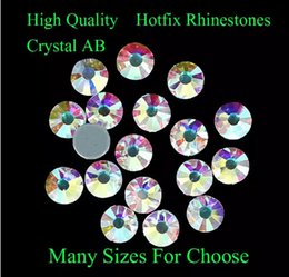 Wholesale Strass Crystal Shoes - Crystal AB Hotfix Rhinestones With Glue Backing Iron On Strass Diamonds DIY Crafts Clothes Shoes Dresses Supplies