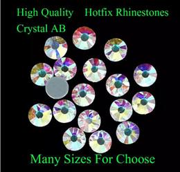 Wholesale Diamonds Hotfix - Crystal AB Hotfix Rhinestones With Glue Backing Iron On Strass Diamonds DIY Crafts Clothes Shoes Dresses Supplies