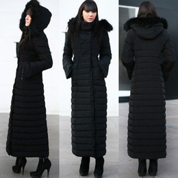 Wholesale Double Breasted Lady Winter Coats - High Quality Winter Super Warm Sheath Women Down Double-Breasted Detachable Hat Pockest Long Sleeve Ankle-Length Ladies Parkas 3 Colors