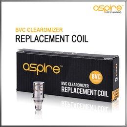 Wholesale Vivi Nova Ohms - Aspire BVC Coils Head For Aspire BDC Atomizers CE5 CE5S ET ETS Vivi Nova Mini Vivi Nova BVC Replacement Coils 1.6 1.8 2.1 ohm Available
