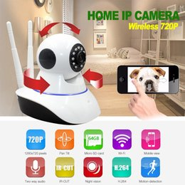Wholesale Ip Camera Antenna - Wi-Fi Home Smart Security Wireless Smart IP Camera with TF Card Slot Dual Antenna Recorder V380 Baby Monitor