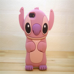 Wholesale Stich Cases - For iPhone5s 6 6plus Stich 3D Silicone Cover Case Cute Soft Rubber Cartoon Cell phone Back Covers