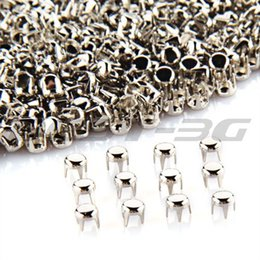 Wholesale Nailhead Spots Wholesaler - Wholesale-500 x Silver Round Studs Spots Punk Nailhead Spikes for Bag Shoes Bracelet 0.16""