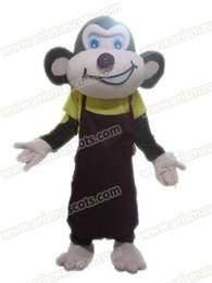 Wholesale Monkey Adult Mascot - AM9202 Monkey mascot costume Fur mascot suit animal mascot outfit adult fancy dress