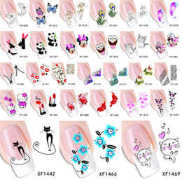 Wholesale Nail Art Wraps Water Transfers - 1 Sheet 2016 Top Sell Flower Bows Etc Water Transfer Stickers Nail Art Decals Nails Wraps Temporary Tattoos Watermark Nail Tools