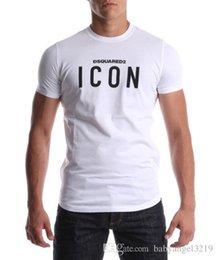 Wholesale Icon Brands - Men hip hop ICON letter print BALRED t shirt Cotton brand Clothing T-shirt Fitness tops Tee Moleton Fashion tshirt