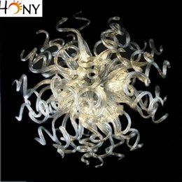Wholesale Blow Table - Free Shipping modern Small Round Crystal Chandelier Table Top Blown Glass Energy Saving Living Room Chandeliers