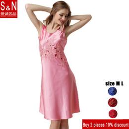 Wholesale Womens Sexy Chiffon Nightgown - 151202 Luxury Brand Womens Silk nightdresses silk v-neck sleeveless lace pierced sexy Nightgowns women sleepwear YP70