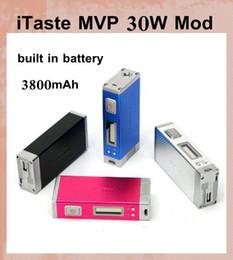 Baterías mvp online-Innokin iTaste MVP 30W VV VW 30watts Batería Mod MVP 3.0 3800mAh Baterías con pantalla OLED 510 eGo Adaptador VS itaste 134 MVP 2.0 TZ293