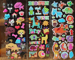 Wholesale Wholesale Horse Stickers - Animal stickers for kids kawaii animal stickers cat dog horse giraffe... zoo kids stickers puffy sticker kids rewards party supply