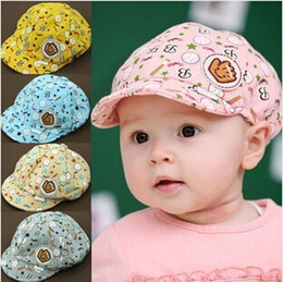 Wholesale Pink Newborn Hats - Hot Sale baby Hats Childrens Fashion Summer Sun Hats Lovely Baby Outdoor Caps Cheap Girls Boys Baseball Cap Snapbacks - 0002HW