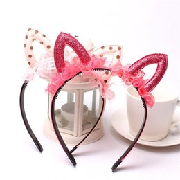 Wholesale Hen Party Hair Accessories - Hair Accessories Hair Bands Headbands Minnie Mouse Ears Bow Headband Hen Nights Womens Girls Mickey Party Fancy Dress