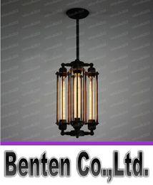 Wholesale Vintage Lustres - AC100-240V 4pcs T30 Edison bulb Vintage Iron Chandelier Rh loft punk fashion metal chandeliershanging lamp lustres home fixture LLFA4760F