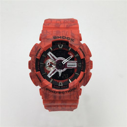 Wholesale Silicone Watch Led Light - AAA luxury brand watch men G All pointer work GA110 Men sports watches LED light watch famous digital shock watches with Box