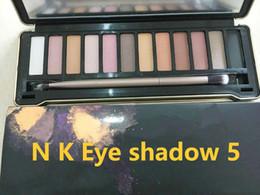Wholesale D E - Best quality N K E D eye shadow pallet smoky makeup NO:1 2 3 5 Palette 12 color N K E D pallet Matte Natual naked eye shadow Cosmetics