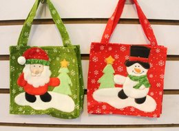 Wholesale Cloth Goody Bags - 2015 Christmas Treat Bags & Christmas Treat Holders Christmas Candy Bag Christmas Party Goody Bags Santa Pants Xmas Bag For Candy Gift