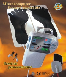 Wholesale Foot Clamps - Xiaohuatuo Low frequency Microcomputer point magnetic therapy foot sole auricle ear-clamp acupuncture massage Therapy Apparatus Health Care