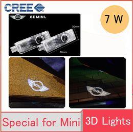 Wholesale Door Projectors - Mini Cooper COOL LED logo door light ghost shadow laser projetor light car welcome Door Lights external light Courtesy Laser Projector Logo